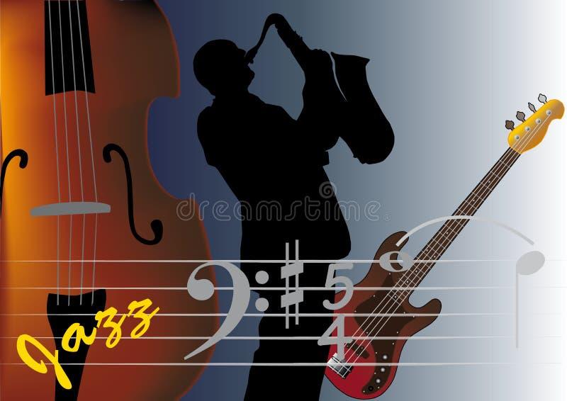 Sassofonista royalty illustrazione gratis
