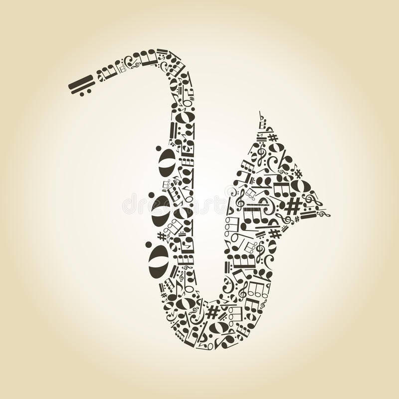 Saxophone3 royalty illustrazione gratis