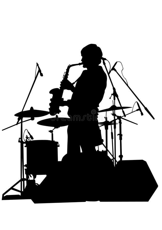 Sassofono uno di jazz illustrazione vettoriale