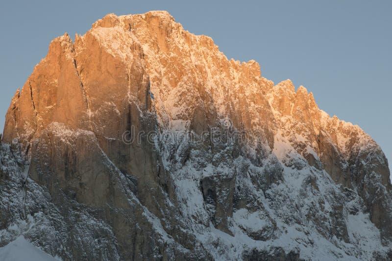 Sassolungo od Gardena przełęcza w dolomitach fotografia royalty free