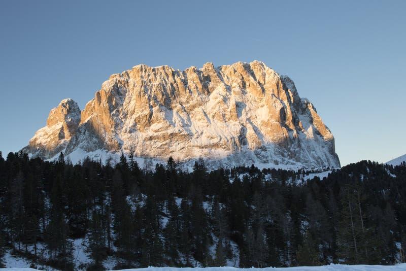 Sassolungo od Gardena przełęcza w dolomitach obrazy stock
