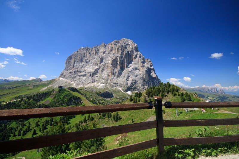 Sassolungo - Val Gardena stock photography