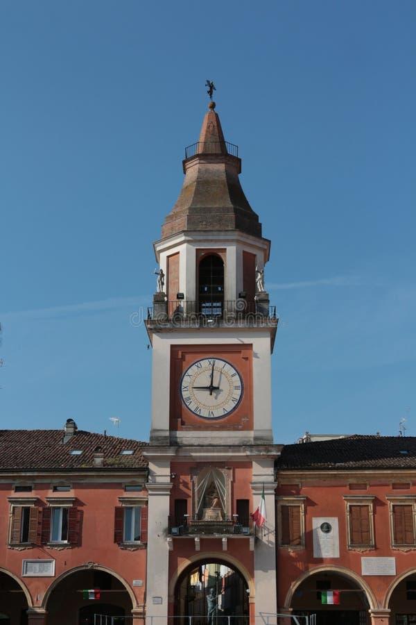 Sassuolo, centro da cidade, Modena, Itália fotografia de stock royalty free