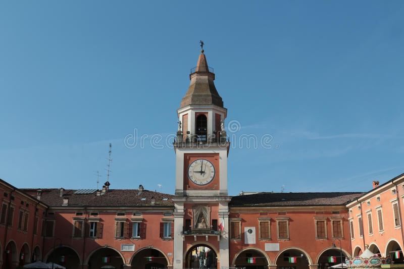 Sassuolo, centrum van de stad, Modena, Italië royalty-vrije stock foto's
