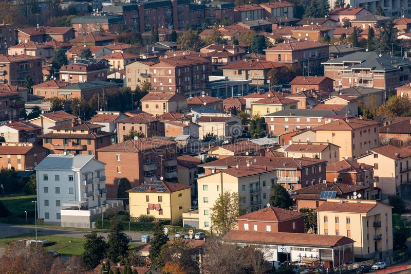 Sassuolo, industriområde, keramikdistrikt arkivfoton
