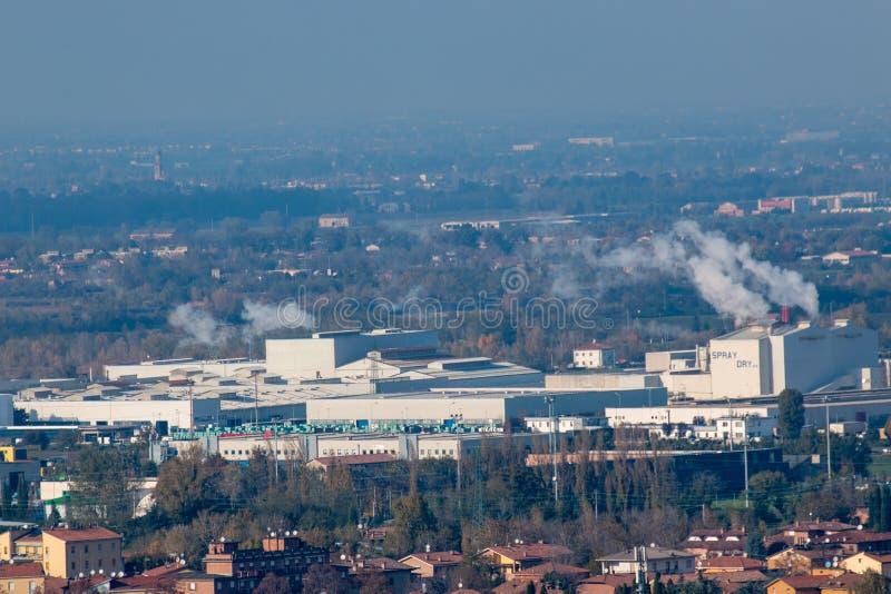 Sassuolo, zona industrial, distrito de cerámica fotos de archivo