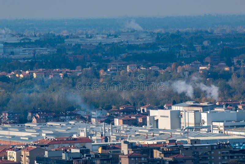 Sassuolo, zona industrial, distrito de cerámica imágenes de archivo libres de regalías