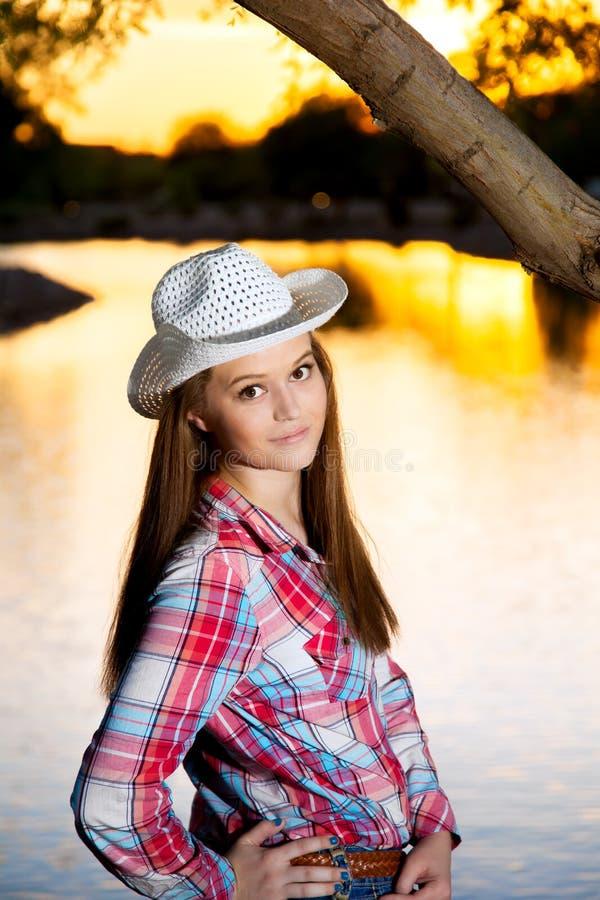 Sassy подростковая пастушка стоковая фотография