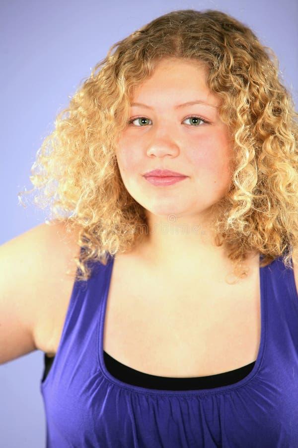 sassy blond flicka royaltyfria foton