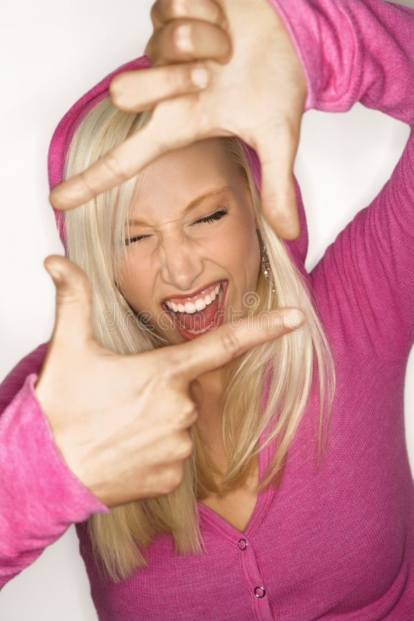 Sassy blonde woman. royalty free stock photos
