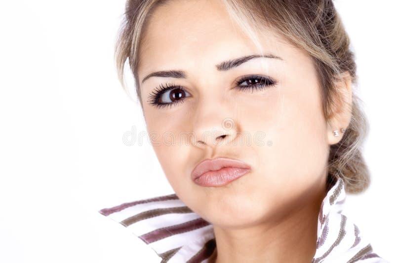 Sassy blondes Mädchen lizenzfreies stockbild