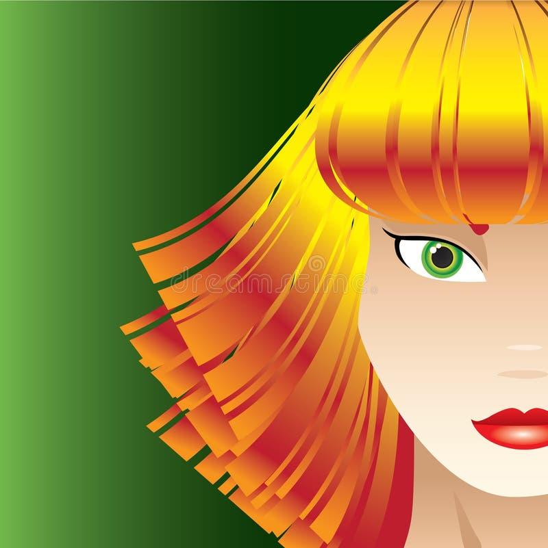 Sassy Erdbeere blond stock abbildung