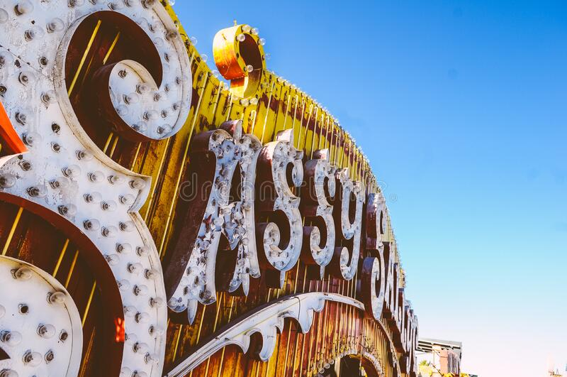 Sassy Saloon sign stock photos