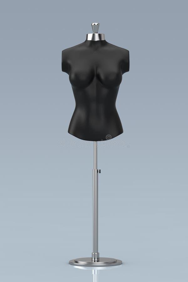 Sastre negro Women Mennequin del vintage representación 3d ilustración del vector