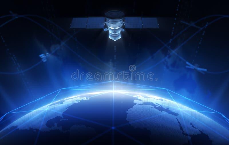 satélite ilustração stock