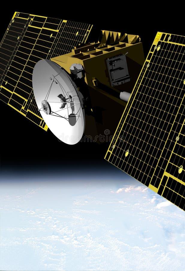 Satélite de comunicación ilustración del vector