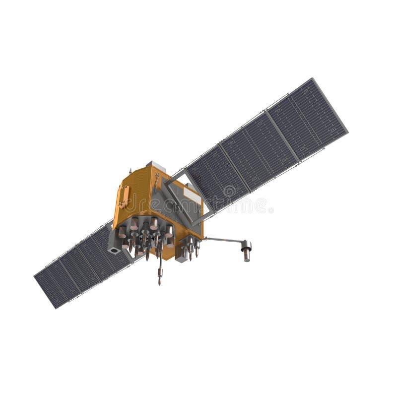 Satélite de GPS no fundo branco foto de stock