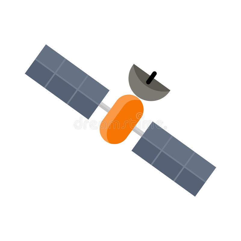 Satélite del transbordador espacial aislado stock de ilustración