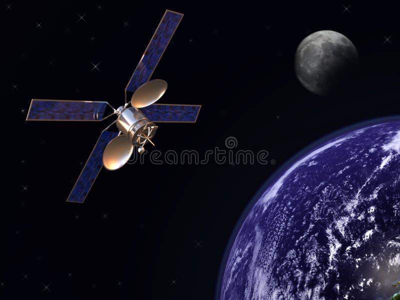 Satélite en órbita de tierra libre illustration
