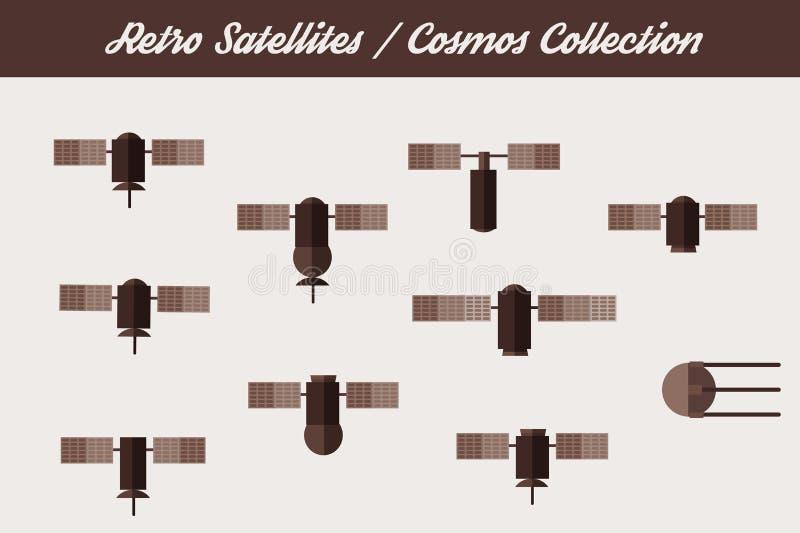 Satélites retros de la órbita libre illustration