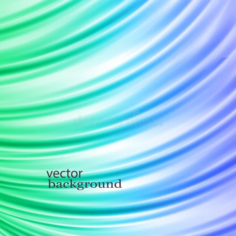 Satén azul y verde Cubra el fondo ilustración del vector