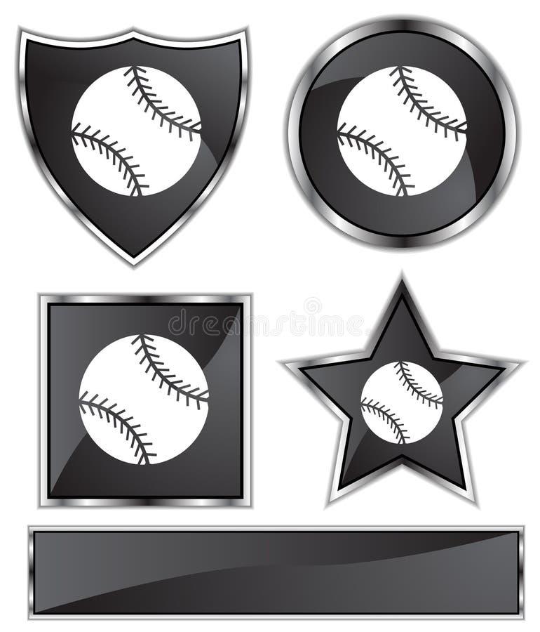 Satén negro - béisbol stock de ilustración