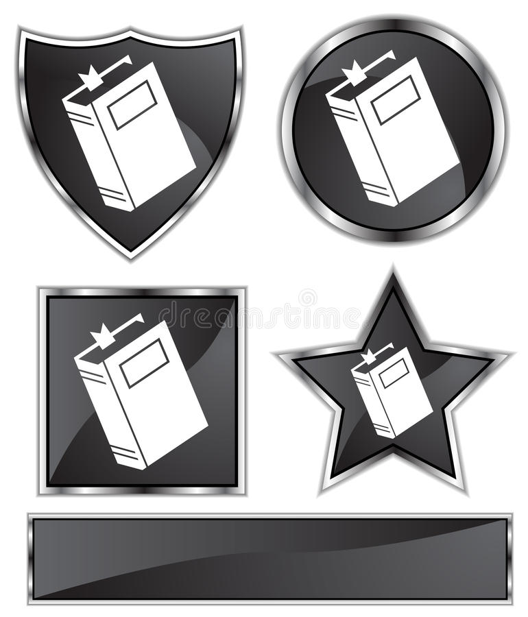 Satén negro - libro ilustración del vector
