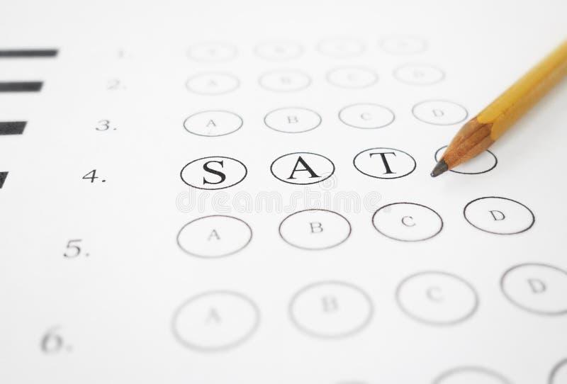 SAT多种选择 免版税库存图片