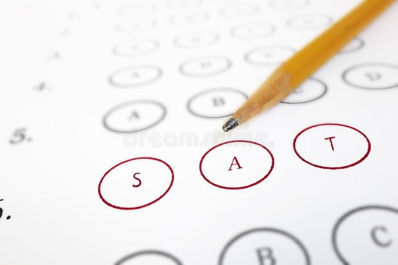 SAT试验用纸样 免版税库存图片