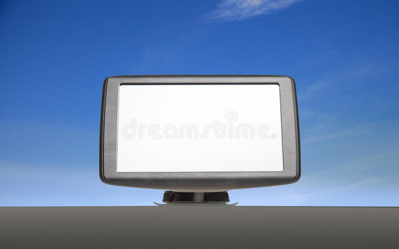 Download Sat Nav With Blue Sky Background Stock Photo - Image: 26029168
