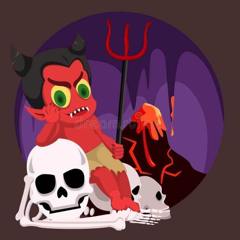 Satan in Sit In Hell lizenzfreie abbildung