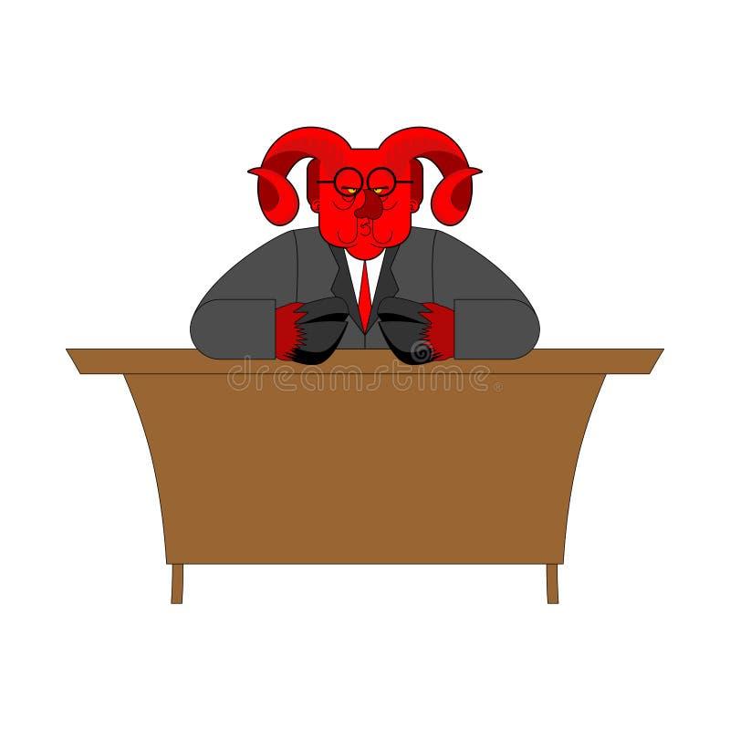 Satanchef  royaltyfri illustrationer