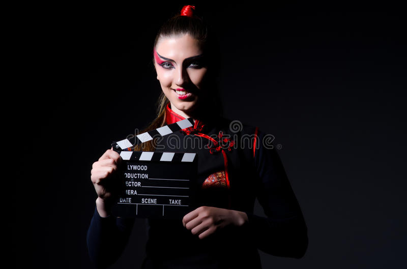 Satanhalloween begrepp med film fotografering för bildbyråer