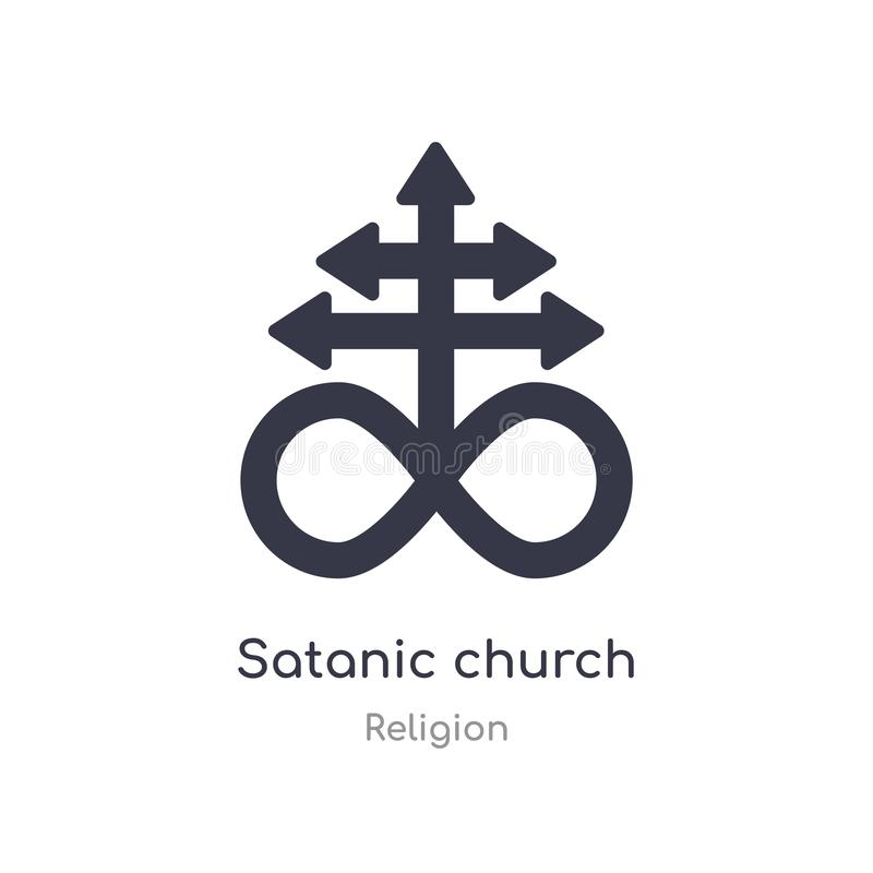 Satanic church icon. isolated satanic church icon vector illustration from religion collection. editable sing symbol can be use. For web site and mobile app vector illustration