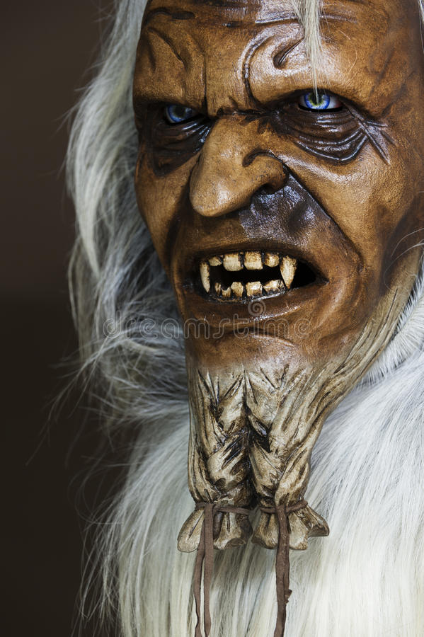 Download Satanic Wooden Mask Of The Companion St. Nicholas Stock Image - Image: 26962819