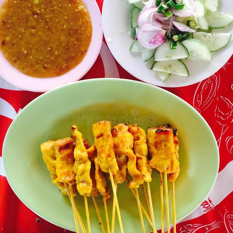 Satay photo libre de droits