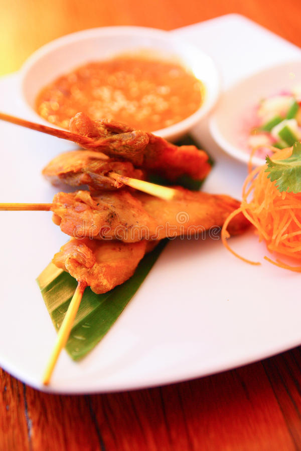 Free Satay Chicken. Stock Image - 30378481