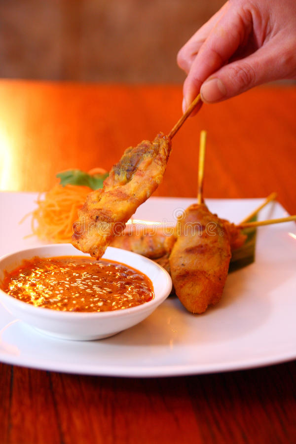 Free Satay Chicken. Stock Images - 30378634