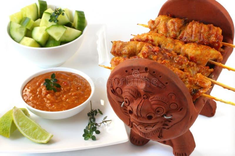 Satay Chicken stock image