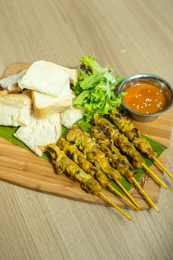 Free Satay Chicken With Toast Stock Photography - 69293322