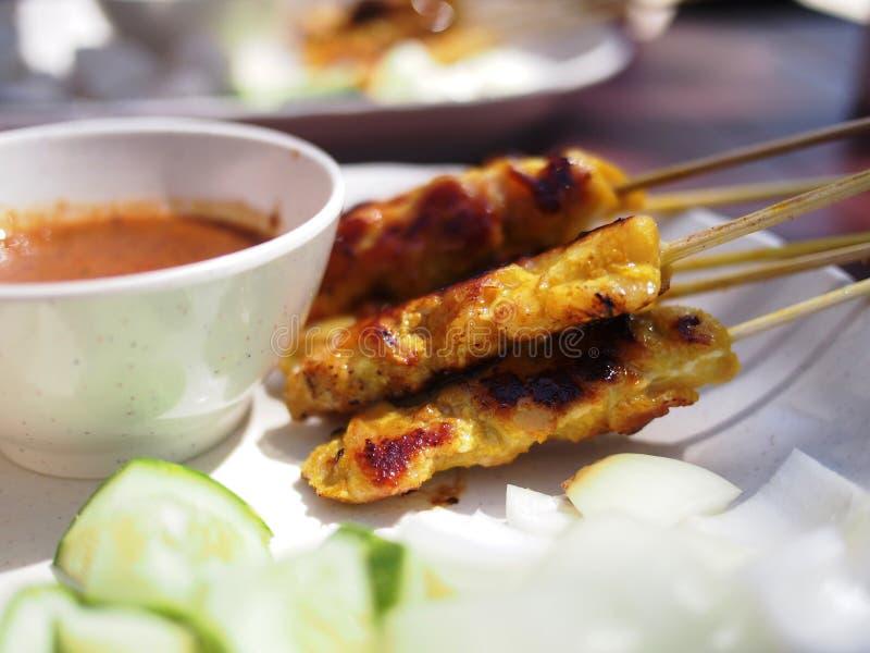 Satay kip stock fotografie