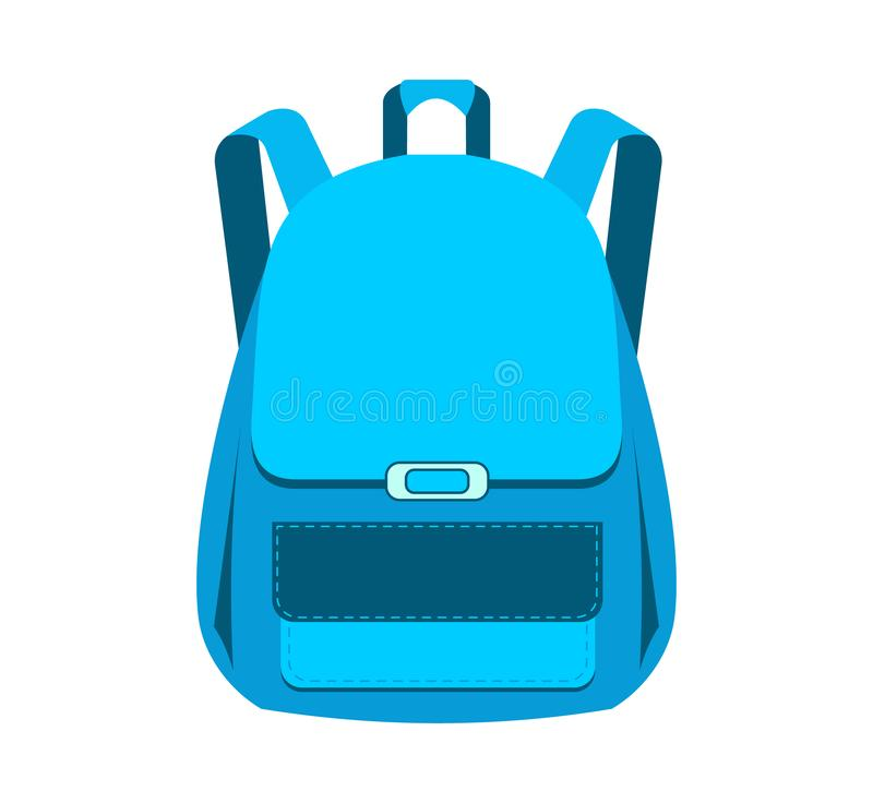 satchel μπλε πετώντας σχολείο σφενδάμνου φύλλων τσαντών ανασκόπησης Διανυσματική απεικόνιση που απομονώνεται στην άσπρη ανασκόπησ απεικόνιση αποθεμάτων