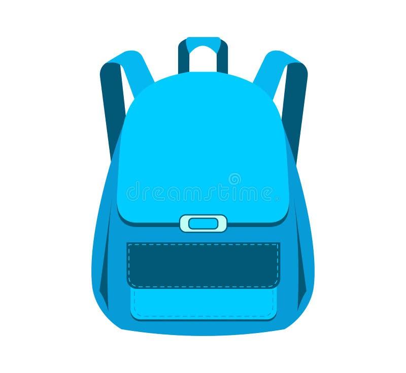 Satchel. School bag. Vector illustration isolated on white background stock illustration