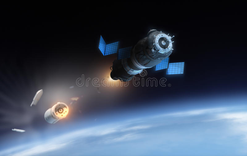 Satelita ilustracja wektor