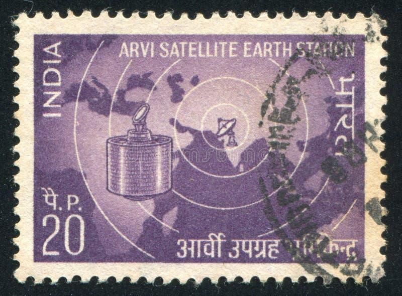 Satelita nad mapą Wschodnia hemisfera obrazy stock