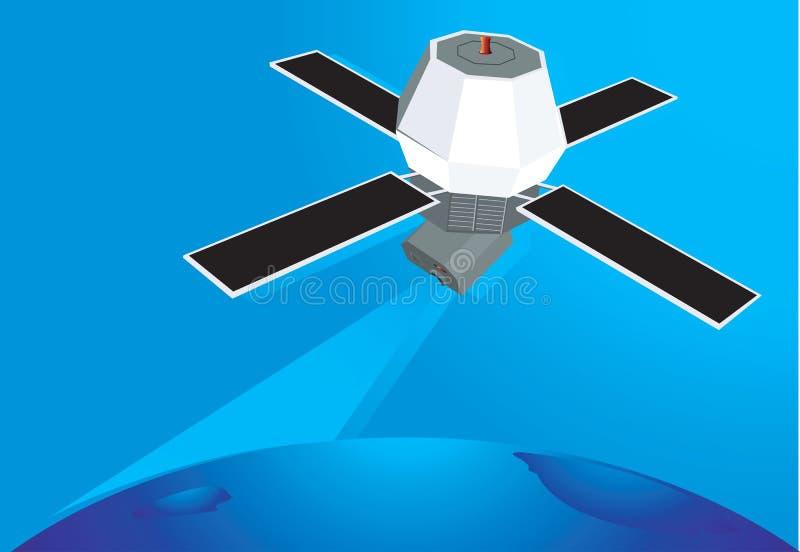 Satelita w niebie royalty ilustracja