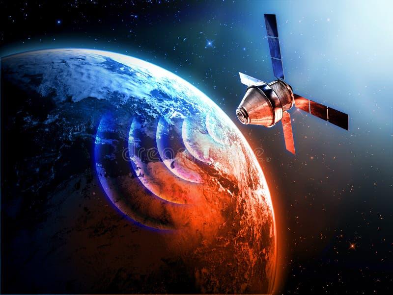 Satelita w przestrzeni ilustracji