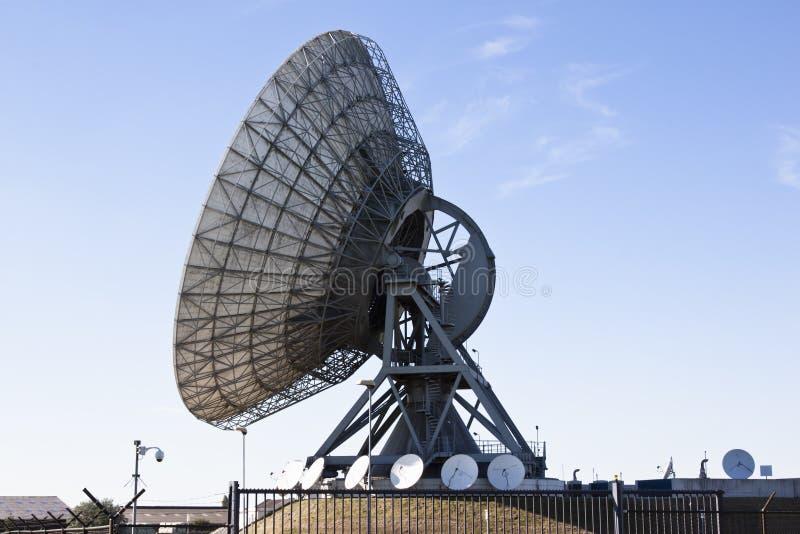 Satelitarne komunikacje w Burum holandie obraz stock