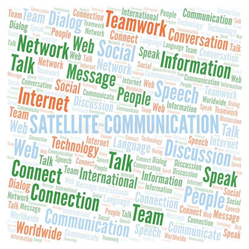 Satelitarnej komunikacji słowa chmura ilustracja wektor
