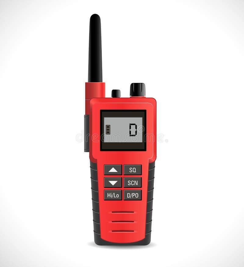 Satelitarnych komunikacj pojęcie - walkie talkie radio royalty ilustracja